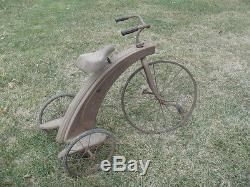 VINTAGE RESTORABLE 1930's-40's STEELCRAFT TRICYCLE