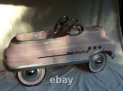 VINTAGE Repro 1950s Pink Super Sport Comet Pedal Car