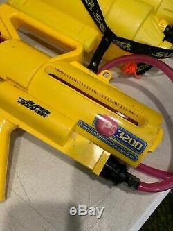VINTAGE SUPER SOAKER CPS 3200 WATER GUN backpack hose Plus More Works