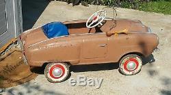 VNTG. MOSKVICH STUDEBAKER PEDAL CAR 70s LARGE TOY AZLK USSR CCCP SOVIET RUSSIA