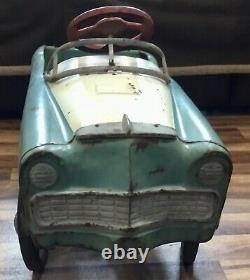 VTG 1956 MURRAY Country Squire pedal car Blue and White, Works, for Restoration