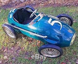 VTG RARE American Retro Giordani Ferrari 500 F2 Grand Prix Formula One Pedal Car