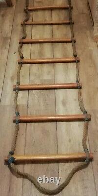 Vintage 14 FT 14 Rungs School Gymnasium Rope Ladders Interior Design Tree House