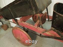 Vintage 1925 American National Pedal Dump Truck Original Condition