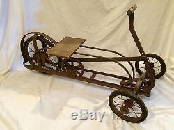 Vintage 1930's Irish Mail Michiana Flyer Pedal Car Cart All Original & Working