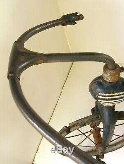 Vintage 1930's Pre-war Garton Airflow Tricycle Trike Original Paint, Seat 1920's