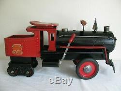 Vintage 1930s Keystone R. R. 6400 Ride On Train Engine Locomotive All Original EX