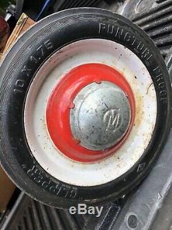 Vintage 1940/50's Murray Red Wagon, Original Paint Decals Puncture Proof Tires