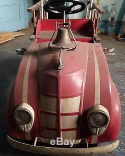 Vintage 1940's Fire Truck Pedal Car