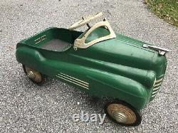 Vintage 1940's Murray Pontiac Pedal Car Antique. Good Shape