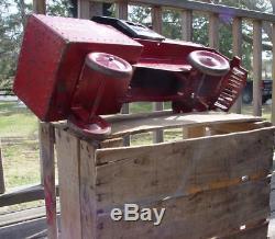 Vintage 1940's Steelcraft 20th Century Limited Pressed Steel Ride-On Locomotive