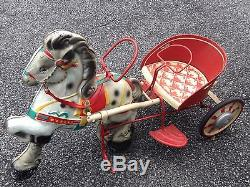 Vintage 1940s MOBO Pony Express Horse Cart Pedal Car Buggy Sulky