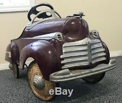 Vintage 1941 Steelcraft Chrysler Pedal Car - All-original