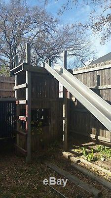 Vintage 1950-1960's era Stainless Steel Playground Slide