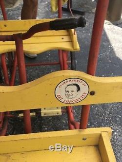 Vintage 1950-60's Art Linkletter Gym Dandy Pedal Surrey