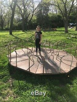 Vintage 1950 Playground Merry-Go-Round