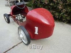 Vintage 1950's BMC Special 8 Racer Pedal Car ORIGINAL 8 Ball Special