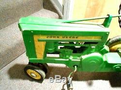 Vintage 1950's Eska John Deere Pedal Tractor