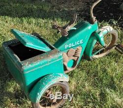 Vintage 1950's Evans Colson Police Tricycle Bicycle Very Rare MUST SEE