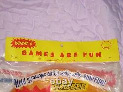 Vintage 1950's FRISBEE WHAM-O PLUTO PLATTER Apricot Games Are Fun Header, SEALED