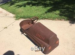 Vintage 1950's Garton Hot Rod style Pedal Car to restore