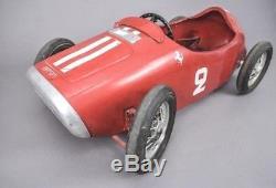 Vintage 1950's MG Ferrari Pedal Car Toy Original Condition Excellent Project