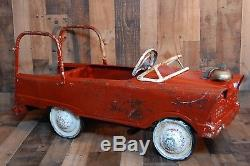 Vintage 1950's Murray Pedal Car Fire Truck in original condition and complete wi