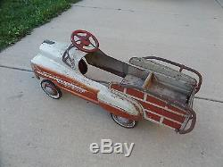 Vintage 1950's Murray Sad Face RANCH WAGON Pedal Car CLEAN Unrestored Condition