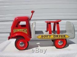 Vintage 1950's Richard Toys Ride On Pressed Steel Nice! L@@K