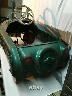 Vintage 1950s, 60s AMF Sky Lark Childs Pedal Car Toy Coupe Rat Rod Garage Art