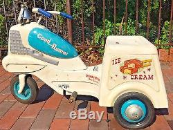 Vintage 1950s Blue White Original Graphics Murray Good Humor Ice Cream Pedal Car