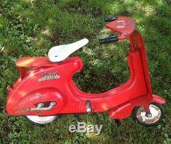 Vintage 1950s Castelli Motor Bike Pedal Scooter