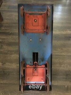 Vintage 1950s Doepke Yardbird Train Pedal Hand Car