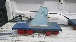 Vintage 1950s Doepke Yardbird Train Pedal Hand Car Child's Ride On Steel Toy