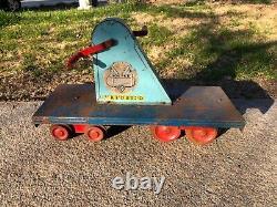 Vintage 1950s Doepke Yardbird Train Pedal Ride-0n Hand Car