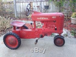 Vintage 1950s Eska -McCormick Farmall 400 Pedal Tractor