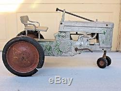 Vintage 1950s John Deere 60 Pedal Tractor Original ESKA 4-Restoration No Reserve