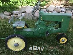 Vintage 1950s John Deere Pedal Tractor with Original trailer