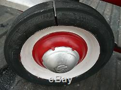 Vintage 1950s Murray Red Ball Bearing Pull Coaster Wagon Pedal Car retro toy