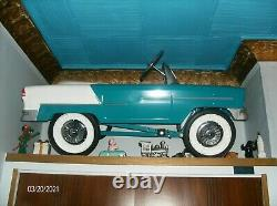 Vintage 1955 Chevy Pedal Car Convertible Displayed since New Never Used GORGEOUS