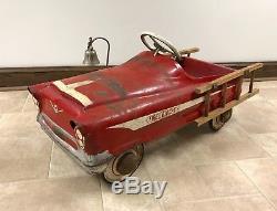 Vintage 1960 (1957) Garton Pedal Car Fire Ladder Truck #5708 (ultra Rare!)