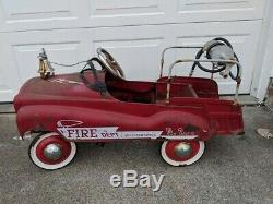 Vintage 1960 Pedal Cars. Fire Truck