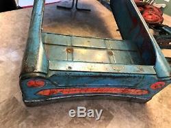 Vintage 1960'S MURRAY V-FRONT TEE BIRD PEDAL CAR BLUE ORIGINAL Disassembled