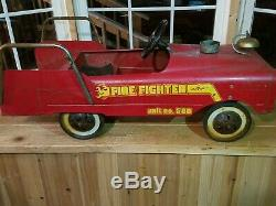 Vintage 1960's AMF Unit # 508 Fire Fighter Truck Pedal Car