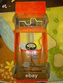 Vintage 1960's AMF Unit 508 Fire Truck Peddle Car