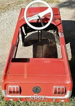 Vintage 1960's Ford Mustang Convertible Pedal Car Nice-Looking Rare MUST SEE