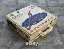 Vintage 1960's Jarts Lawn Game BOX ONLY with Dividers in Good Condition