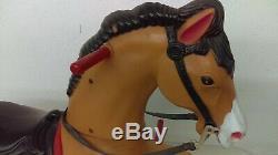 Vintage 1960's Marx Tony The Pony Battery Powered Ride On Horse