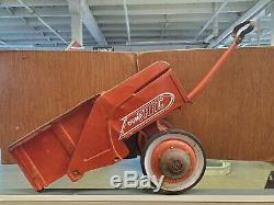 Vintage 1960's Murray Red Dump Trac Pedal Car Dump Trailor