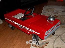 Vintage 1960s AMF #503 Fire Chief Pedal Car